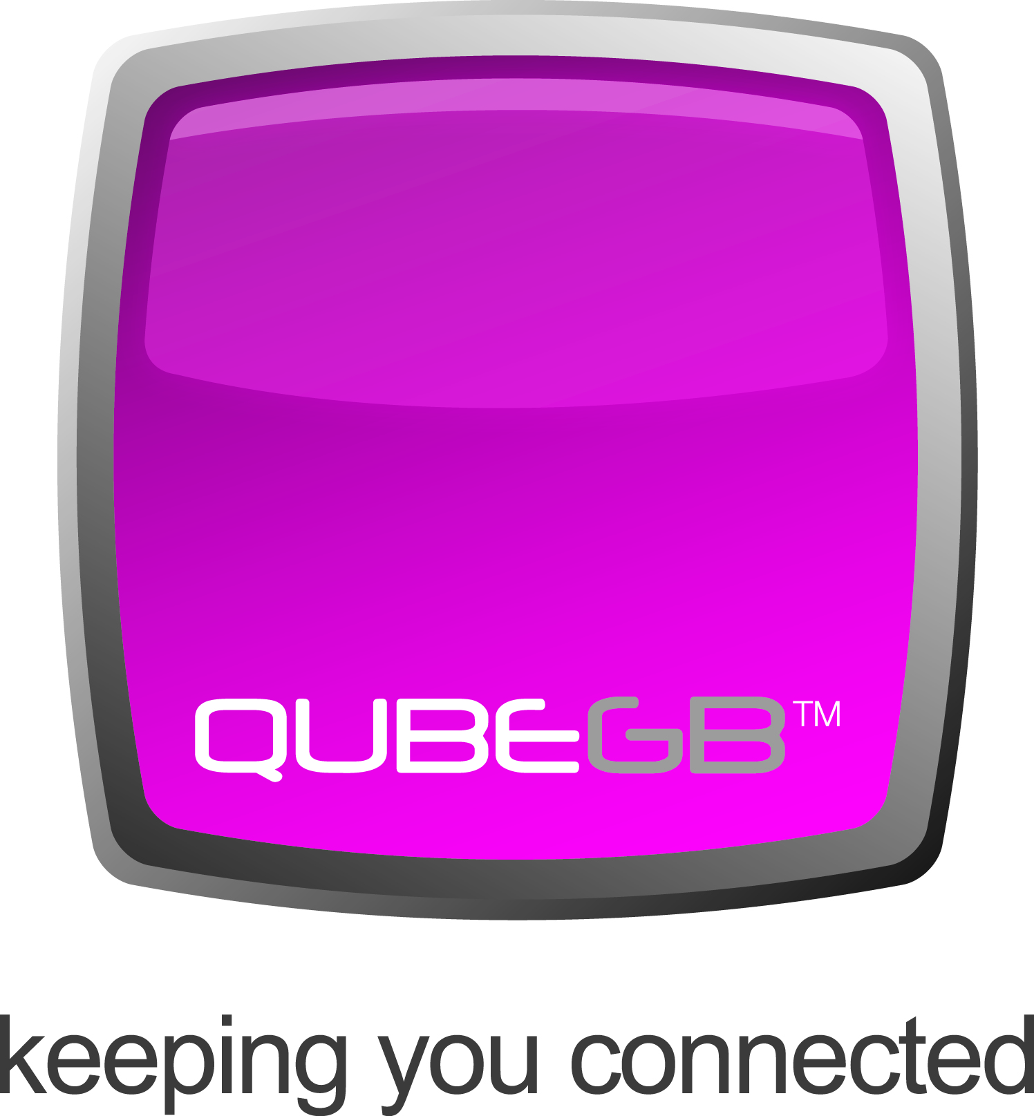 QubeGB keeping you connected logo