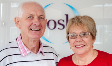 Keith and Linda smiling